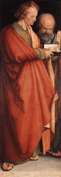 207px-Albrecht_Dürer_-_The_Four_Holy_Men_(John_the_Evangelist_and_Peter)_-_WGA7025