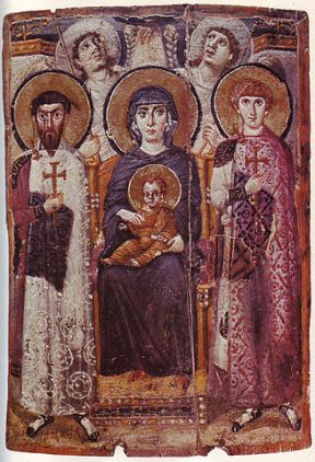 327px-Mary_&_Child_Icon_Sinai_6th_century