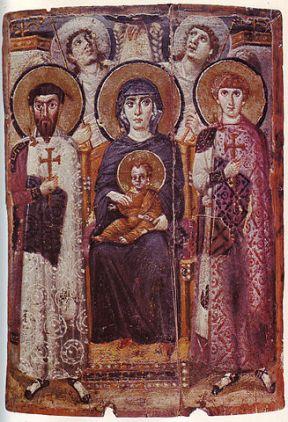 327px-Mary_&_Child_Icon_Sinai_6th_century